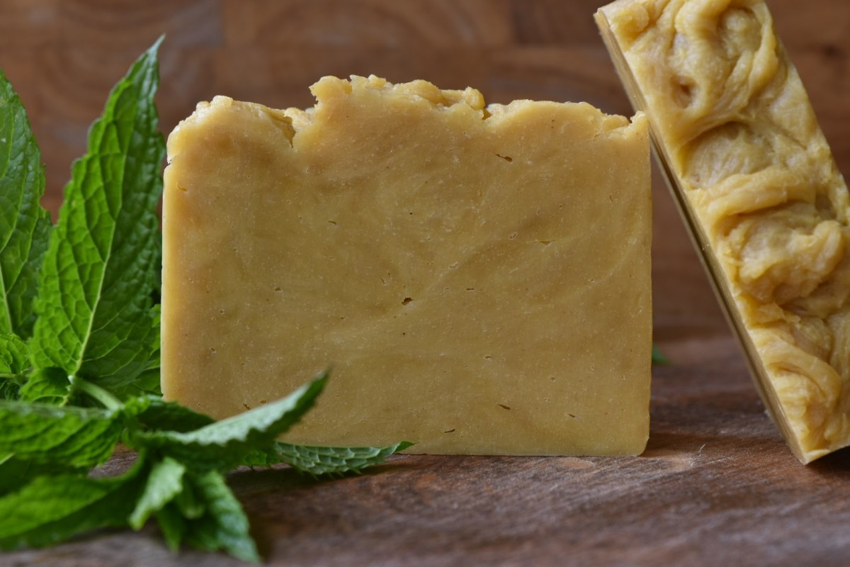 Summer Carrot Soap with Mint & Lemongrass Essential Oils